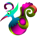 download Decorative Bird clipart image with 315 hue color
