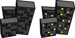 Buildings At Night