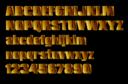 Gold Block Letters