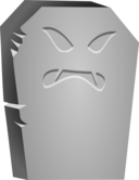 Halloween Tombstone Angry Face