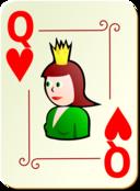 Ornamental Deck Queen Of Hearts