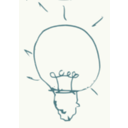 download Bulb Idea clipart image with 315 hue color
