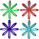 download Bows Ribbons clipart image with 135 hue color