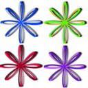download Bows Ribbons clipart image with 225 hue color