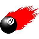 download 8ball With Flames clipart image with 315 hue color