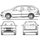 download Fabia All Views clipart image with 225 hue color