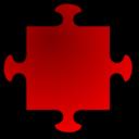 Red Jigsaw Piece 04