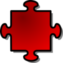 Red Jigsaw Piece 04