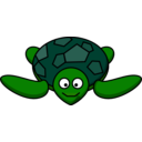 download Smiling Turtle clipart image with 45 hue color