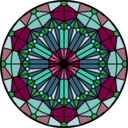 download Rose Window clipart image with 135 hue color