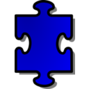 Blue Jigsaw Piece 01