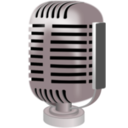 download Old Style Microphone clipart image with 135 hue color