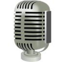 download Old Style Microphone clipart image with 225 hue color