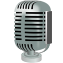 download Old Style Microphone clipart image with 315 hue color