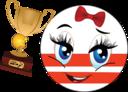 Zamalek Girl Smiley Emoticon