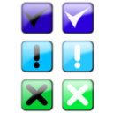download Status Icons clipart image with 135 hue color