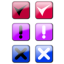 download Status Icons clipart image with 225 hue color