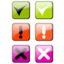 download Status Icons clipart image with 315 hue color
