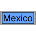 download Digital Display With Mexico Text clipart image with 135 hue color