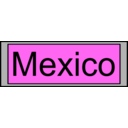 download Digital Display With Mexico Text clipart image with 225 hue color