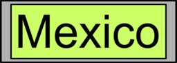 Digital Display With Mexico Text