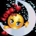 Loving Girl Smiley Emoticon