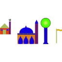 download Masjid clipart image with 45 hue color