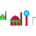 download Masjid clipart image with 135 hue color