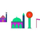 download Masjid clipart image with 315 hue color