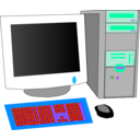 download Personal Computer clipart image with 135 hue color