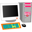 download Personal Computer clipart image with 315 hue color