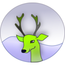 download Reindeer clipart image with 45 hue color