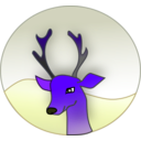 download Reindeer clipart image with 225 hue color