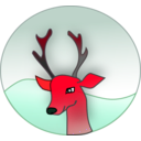 download Reindeer clipart image with 315 hue color