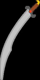 Soft Colored Long Scimitar