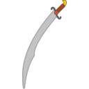 Soft Colored Long Scimitar