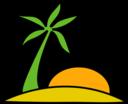 Island Palm And The Sun