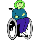 download Girl In Wheelchair clipart image with 45 hue color