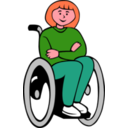 download Girl In Wheelchair clipart image with 315 hue color