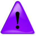 download Warning Notification clipart image with 225 hue color