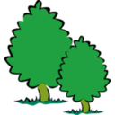 download Small Trees Bushes clipart image with 45 hue color