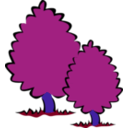 download Small Trees Bushes clipart image with 225 hue color