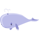 download Cartoon Whale clipart image with 45 hue color