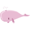 download Cartoon Whale clipart image with 135 hue color