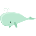 download Cartoon Whale clipart image with 315 hue color