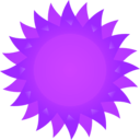 download Sun clipart image with 225 hue color