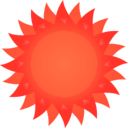 download Sun clipart image with 315 hue color