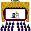 download Cinema clipart image with 45 hue color