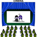 download Cinema clipart image with 225 hue color