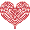 Red Heart Of Marbles